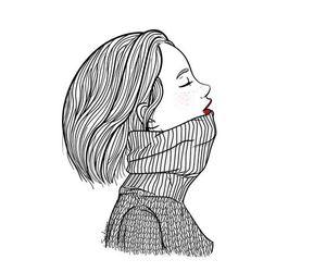 girl, draw, and art image