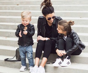 fashion, family, and adidas image