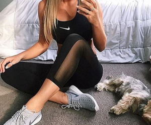 fit, fitness, and nike image