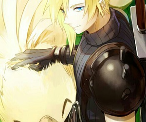 chocobo and cloud strife image