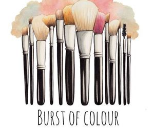 makeup, art, and Brushes image
