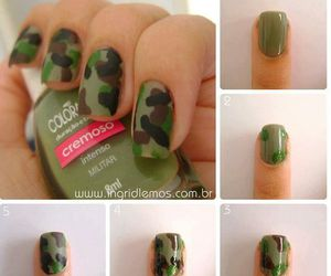 nails, tutorial, and green image