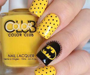 batman, nails, and nail art image
