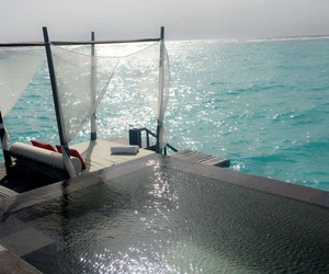 hotel, luxury, and Maldives image