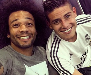 real madrid, james rodriguez, and marcélo image