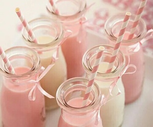pink, milk, and drink image