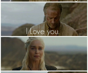 game of thrones, daenerys targaryen, and jorah mormont image