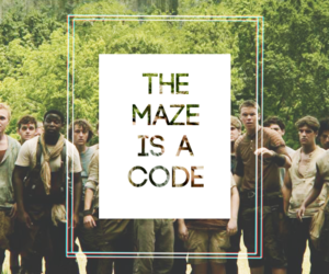 the maze runner, code, and thomas image