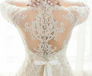dress, wedding, and back image
