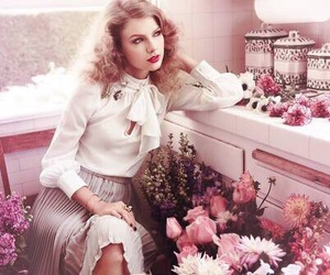 Taylor Swift, flowers, and vintage image