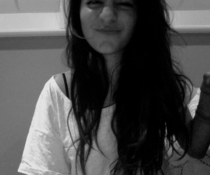 black and white, girl, and black hair image