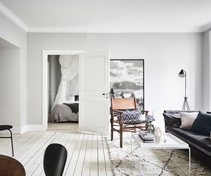 chic, light, and living room image