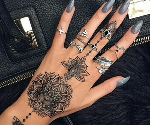 hands, indie, and henna image