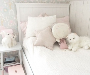 bed, white, and babyroom image