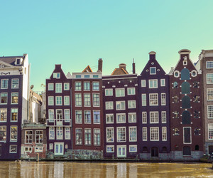 amsterdam, canals, and cities image
