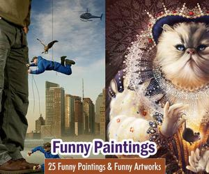 art, russian artist, and funny paintings image
