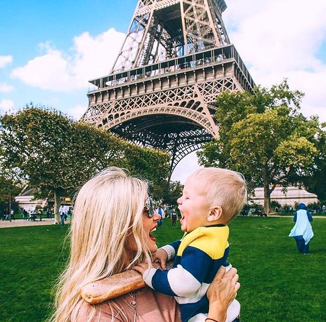 baby, mom, and paris image