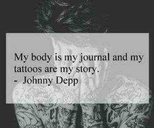tattoo, johnny depp, and quotes image