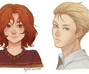 scorpius malfoy, rose weasley, and next generation image
