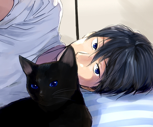 anime, cat, and free image