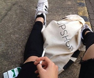 cigarette, grunge, and adidas image