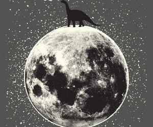 dinosaur and moon image