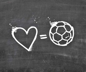 love, football, and soccer image