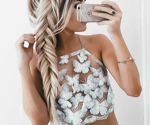 bralette, halter top, and clothes image