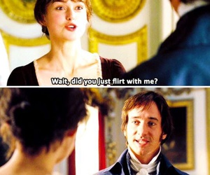 flirt, lol, and pride and prejudice image