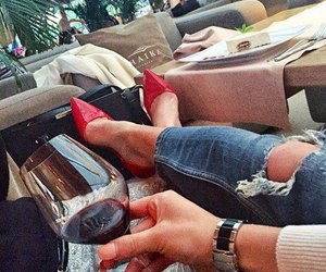 fashion, red, and wine image