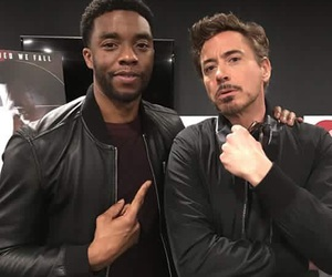 Marvel, robert downey jr, and chadwick boseman image