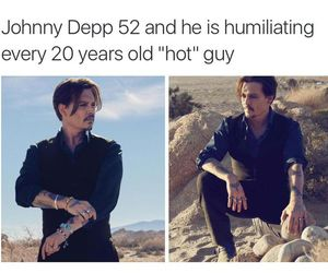 johnny depp, guy, and Hot image