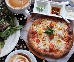 coffee, pizza, and tumblr image