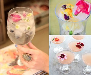 cocktail, drink, and flower image