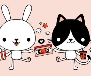 bag, bunny, and pink image