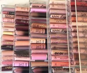 makeup, beauty, and lipgloss image