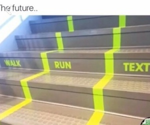 future, run, and text image