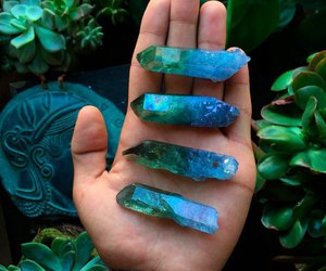 blue, green, and hand image
