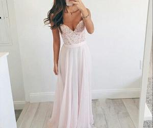 dress, fashion, and pink image