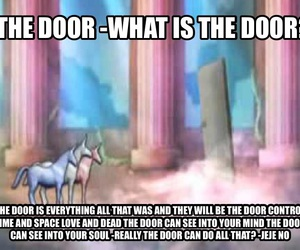 the door and charlie the unicorn image