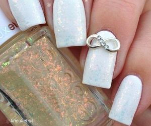 nails, infinity, and white image
