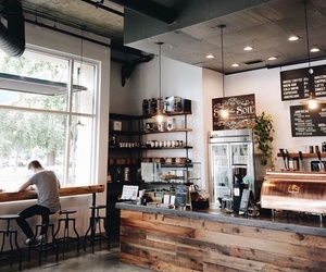 coffee, cafe, and coffee shop image