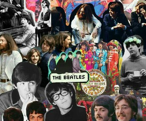Collage, george harrison, and john lennon image