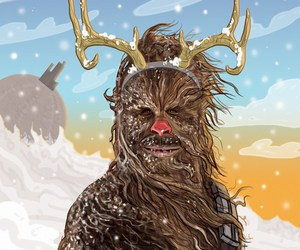 chewie, red nose, and chewbacca image