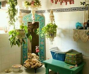 bathroom and boho image