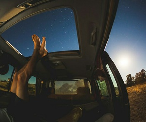 stars, car, and nature image