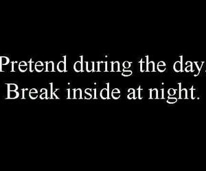 quotes, night, and sad image