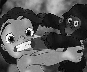 tarzan, disney, and monkey image