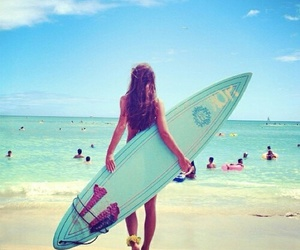 girl, surf, and love image