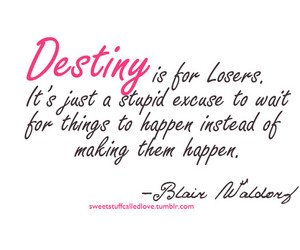destiny, gossip girl, and blair waldorf image
